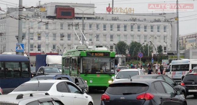 ВКазани троллейбус при наезде оторвал пешеходу стопу