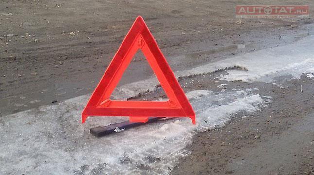 ВТатарстане натрассе сбили водителя, выставлявшего аварийный знак