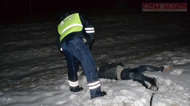 ВТатарстане шофёр насмерть сбил пешехода