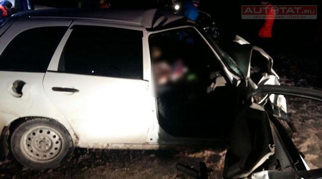 ВМамадышском районе в итоге ДТП один человек умер, двое пострадали