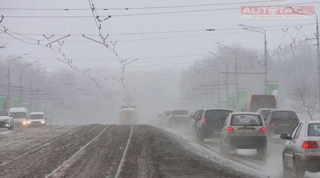 ГИБДД предупредила водителей осильном ветре игололеде вТатарстане