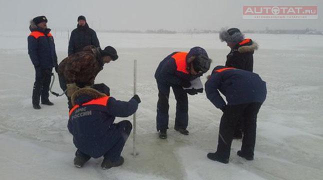 Нижние Вязовые: ВТатарстане ограничили движение поледовой переправе Зеленодольск