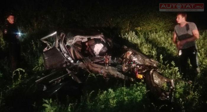 В итоге лобового ДТП натрассе «Набережные Челны-Альметьевск» погибли трое